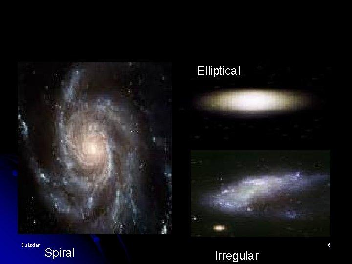 Elliptical Galaxies Spiral 6 Irregular
