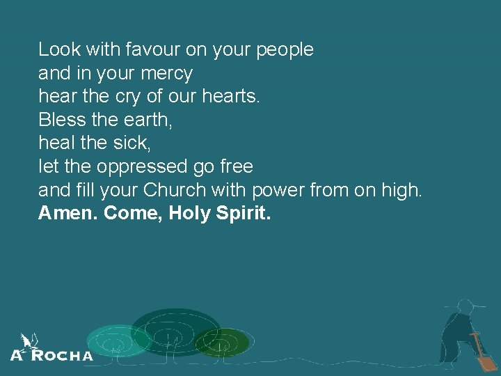 Look with favour on your people and in your mercy hear the cry of
