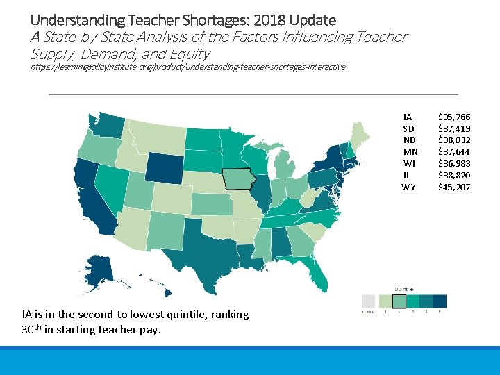 Understanding Teacher Shortages: 2018 Update A State-by-State Analysis of the Factors Influencing Teacher Supply,