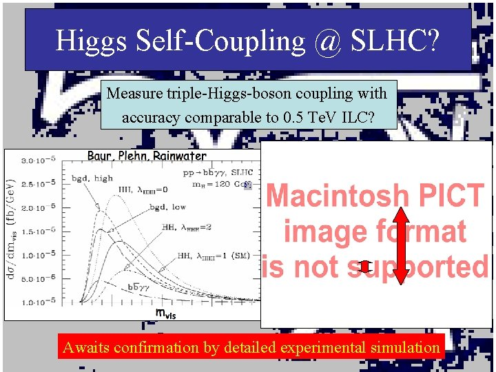 Higgs Self-Coupling @ SLHC? Measure triple-Higgs-boson coupling with accuracy comparable to 0. 5 Te.