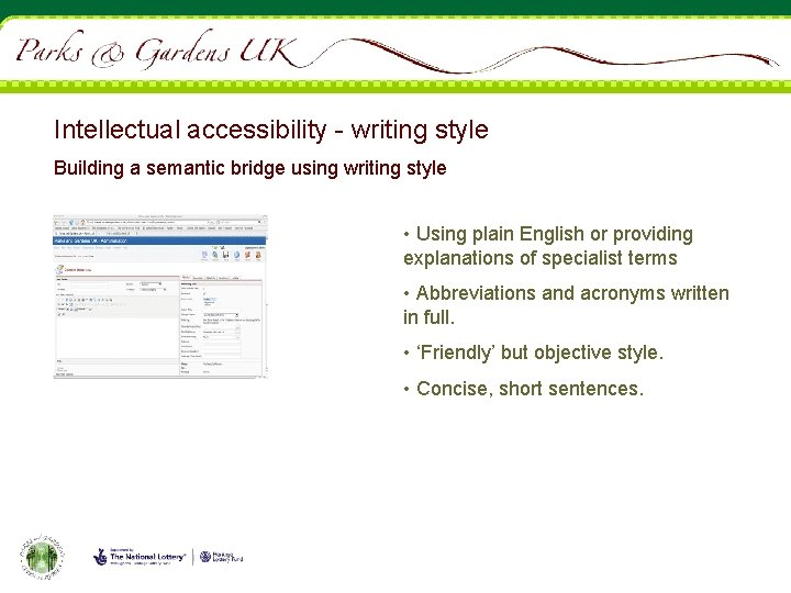 Intellectual accessibility - writing style Building a semantic bridge using writing style • Using
