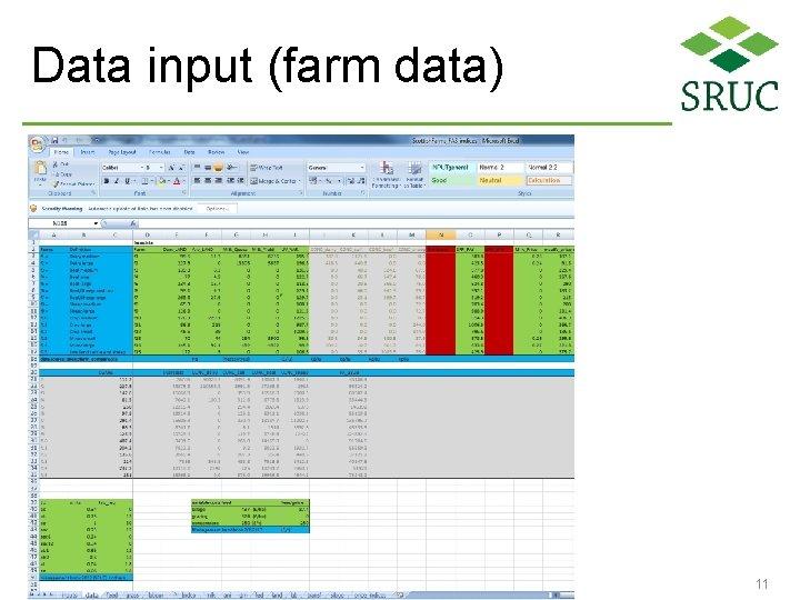 Data input (farm data) 11