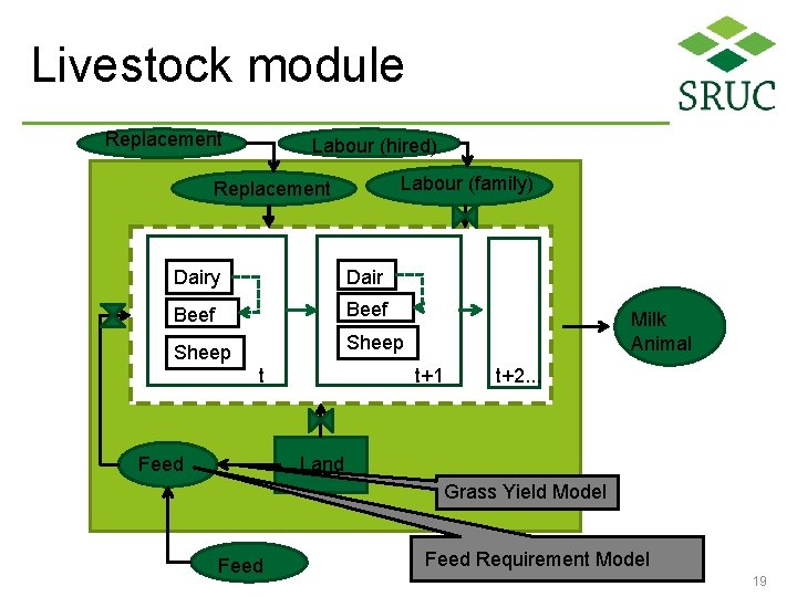 Livestock module Replacement Labour (hired) Labour (family) Replacement Beef Dair y. Beef Sheep Dairy