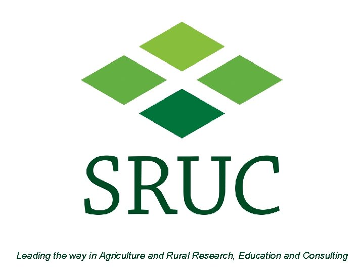 Leading the way in Agriculture and Rural Research, Education and Consulting