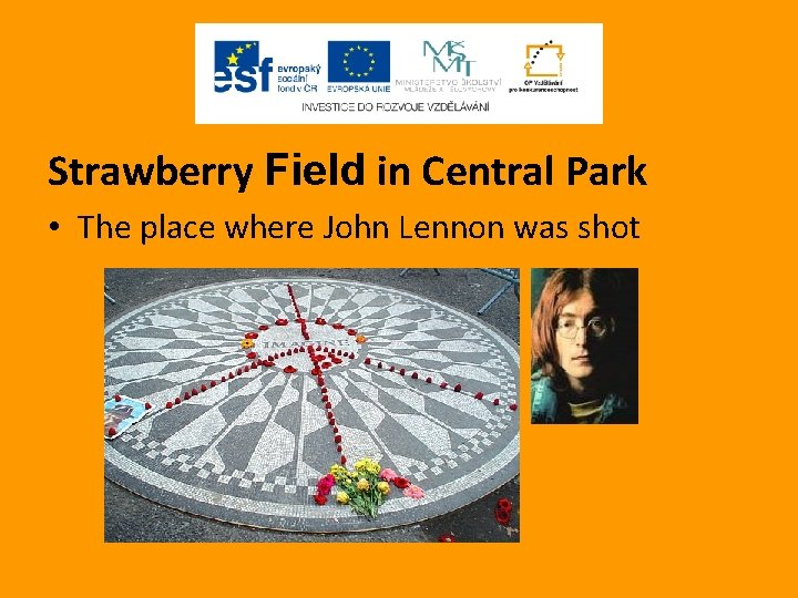 Strawberry Field in Central Park • The place where John Lennon was shot