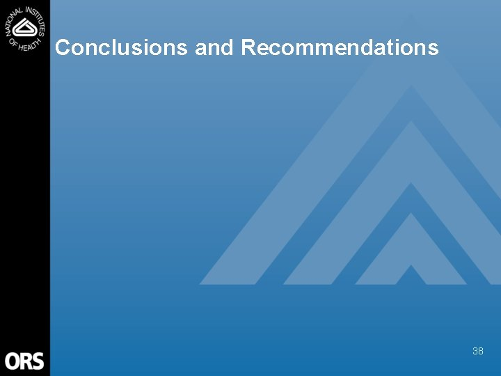 Conclusions and Recommendations 38