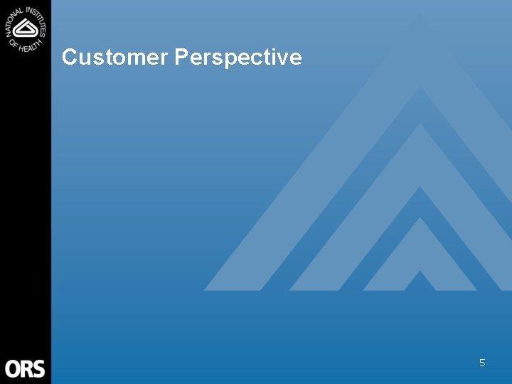 Customer Perspective 5