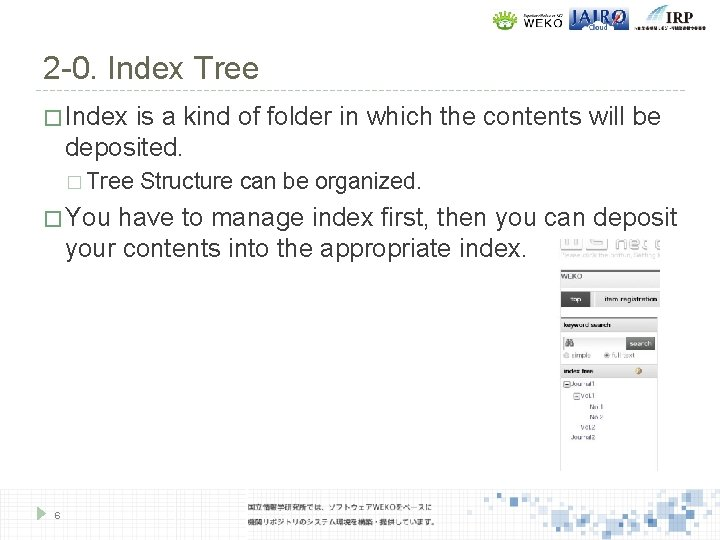 2 -0. Index Tree � Index is a kind of folder in which the