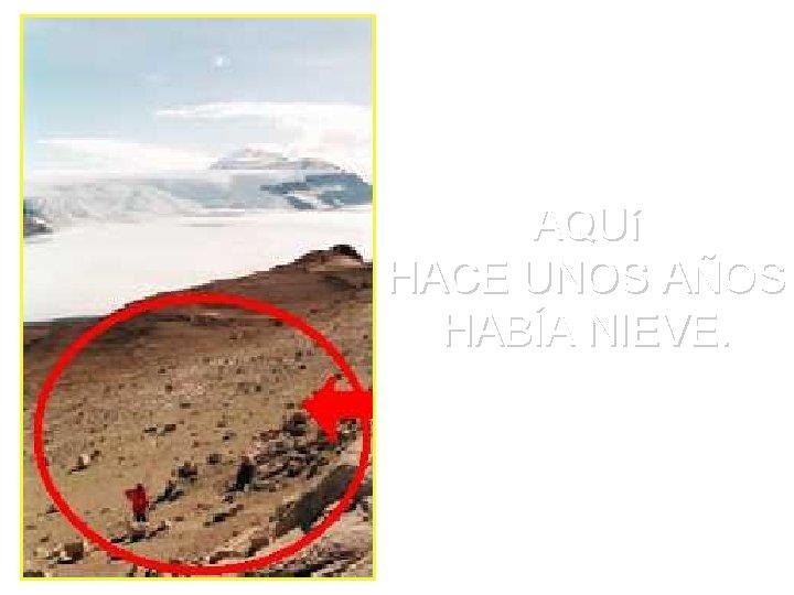 AQUí HACE UNOS AÑOS HABÍA NIEVE.