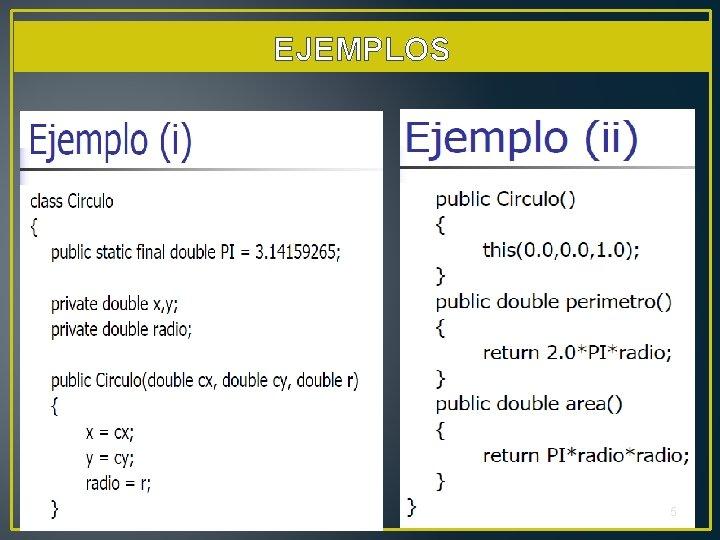 EJEMPLOS 5