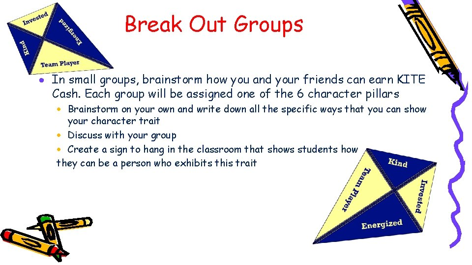 Break Out Groups · In small groups, brainstorm how you and your friends can