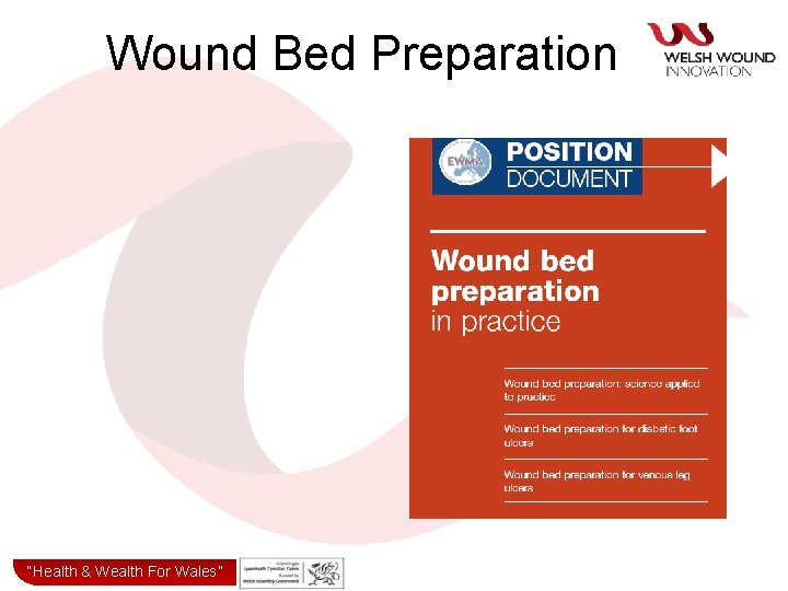 """Wound Bed Preparation """"Health& & Wealth for Wales"""" """"Health Wealth For Wales"""""""