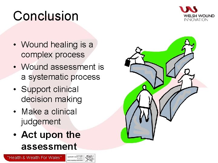 Conclusion • Wound healing is a complex process • Wound assessment is a systematic