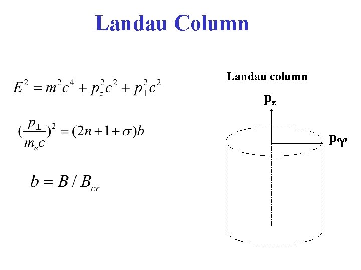 Landau Column Landau column pz p