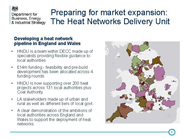 Preparing for market expansion: The Heat Networks Delivery Unit Developing a heat network pipeline