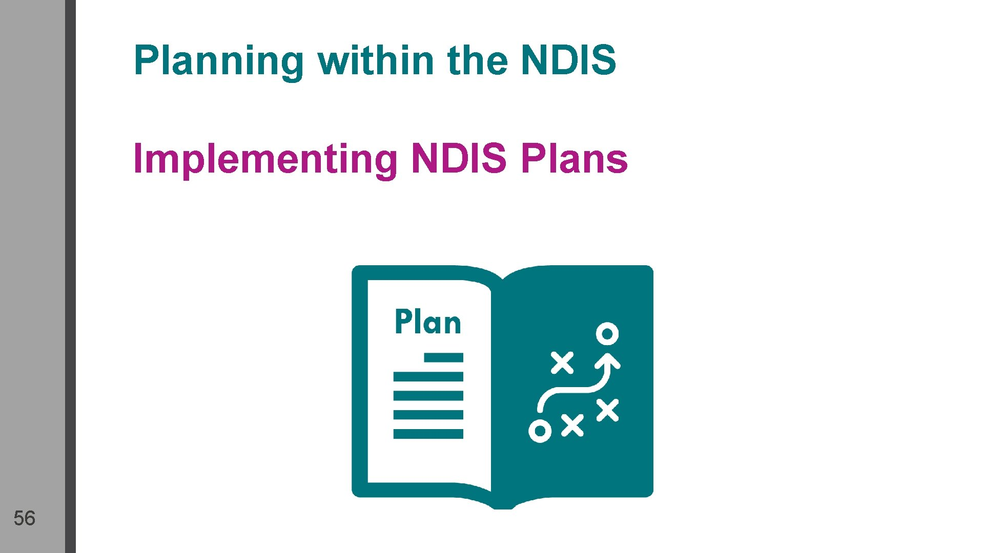 Planning within the NDIS Implementing NDIS Plans 56