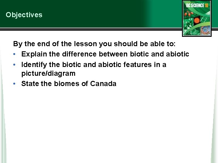 Objectives By the end of the lesson you should be able to: • Explain
