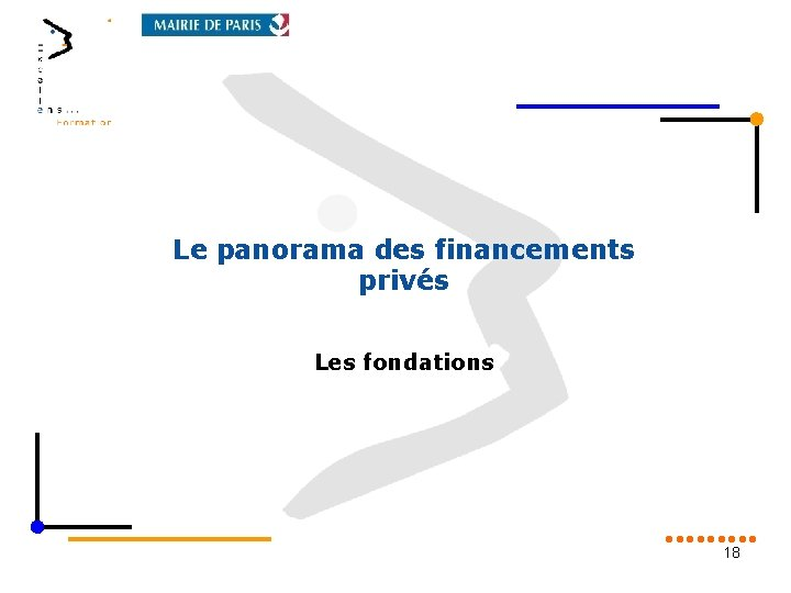 Le panorama des financements privés Les fondations 18