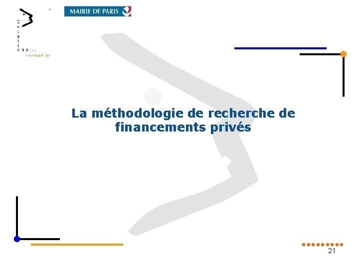 La méthodologie de recherche de financements privés 21