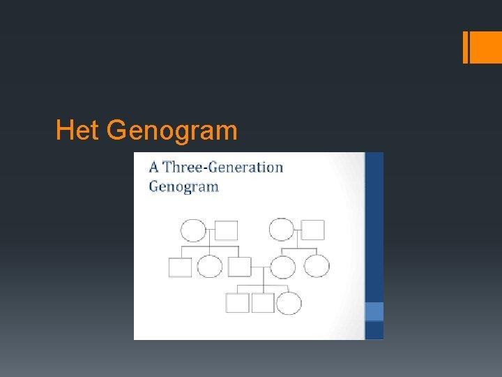 Het Genogram