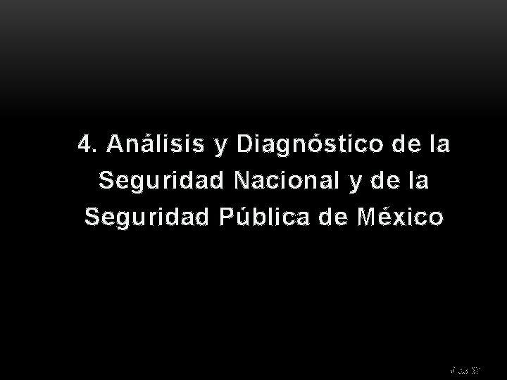 4. Análisis y Diagnóstico de la Seguridad Nacional y de la Seguridad Pública de