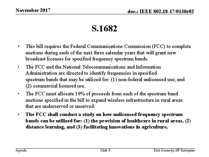 November 2017 doc. : IEEE 802. 18 -17/0130 r 02 S. 1682 • This
