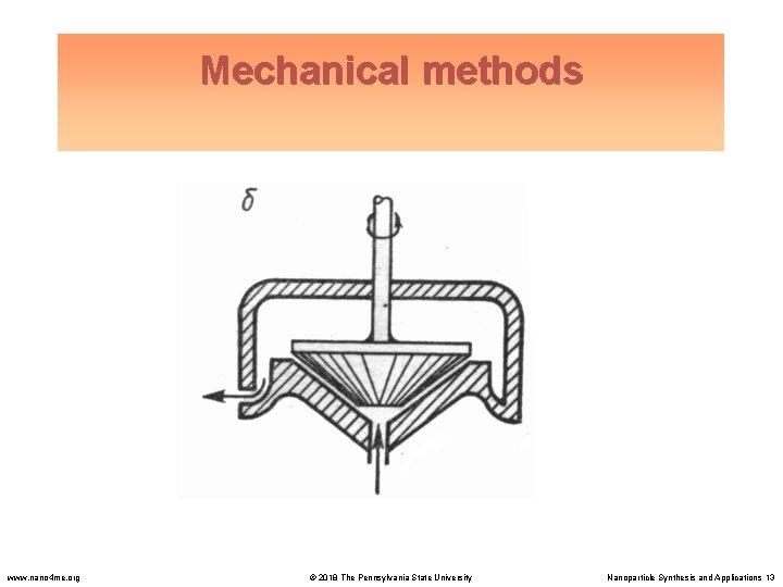 Mechanical methods www. nano 4 me. org © 2018 The Pennsylvania State University Nanoparticle