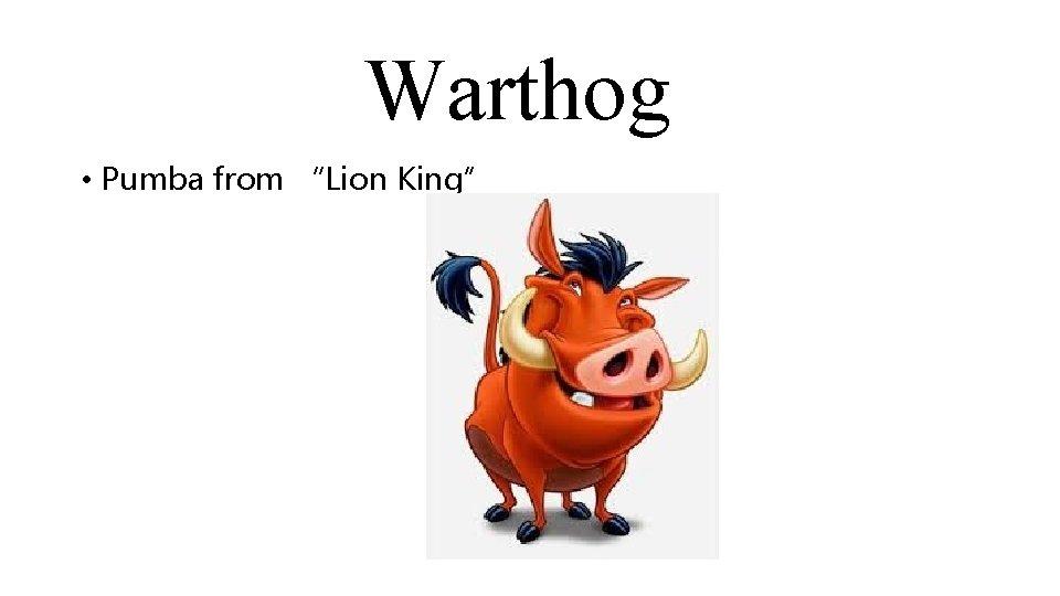 """Warthog • Pumba from """"Lion King"""""""