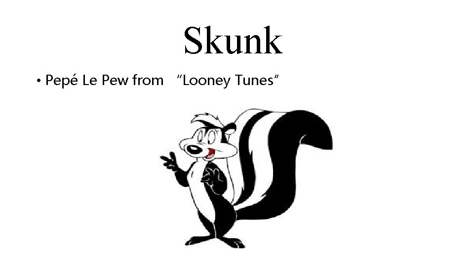 """Skunk • Pepé Le Pew from """"Looney Tunes"""""""