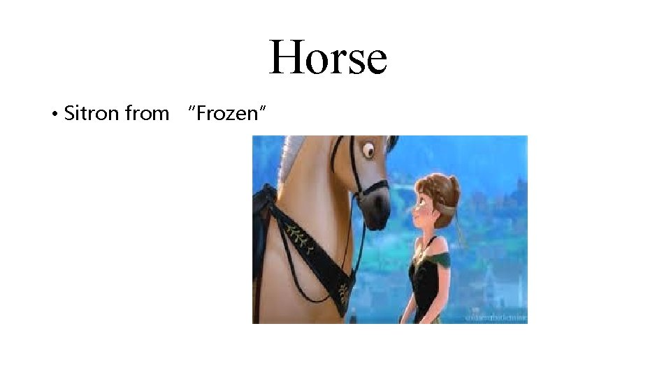 """Horse • Sitron from """"Frozen"""""""
