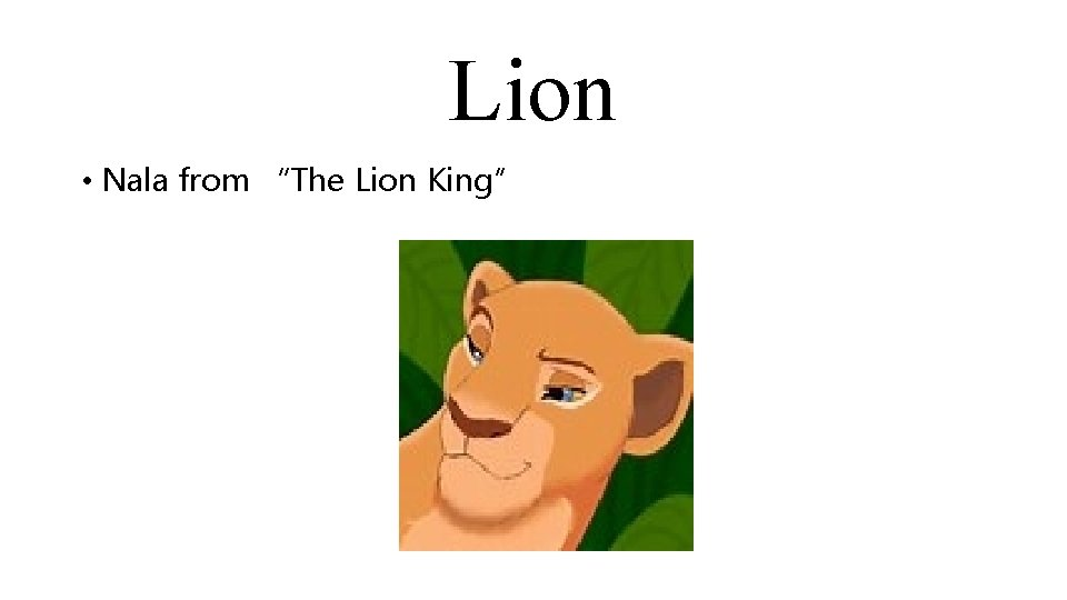 """Lion • Nala from """"The Lion King"""""""