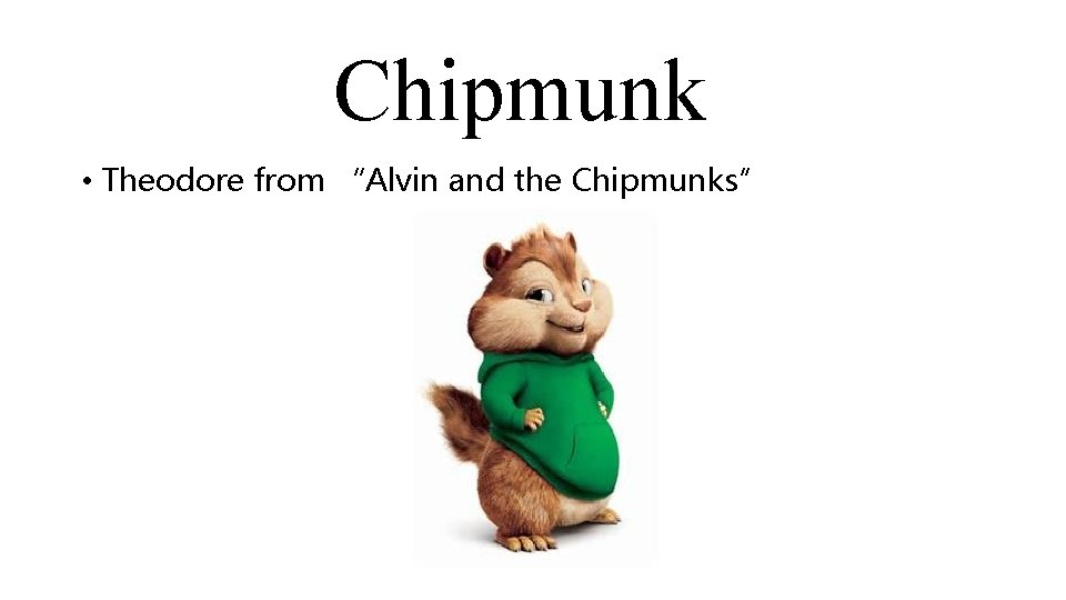 """Chipmunk • Theodore from """"Alvin and the Chipmunks"""""""