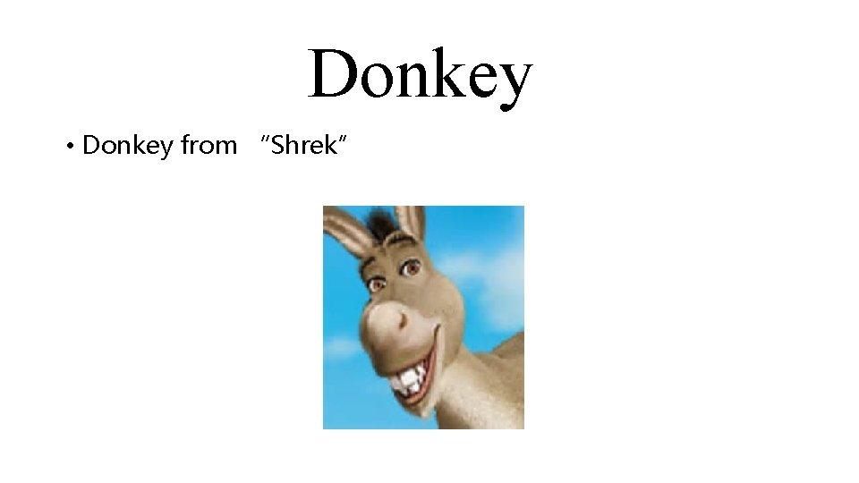 """Donkey • Donkey from """"Shrek"""""""