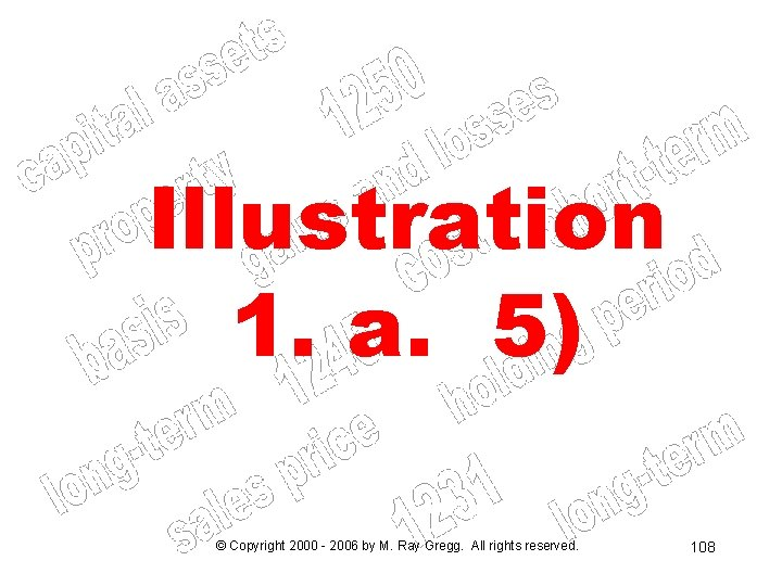Illustration 1. a. 5) © Copyright 2000 - 2006 by M. Ray Gregg. All