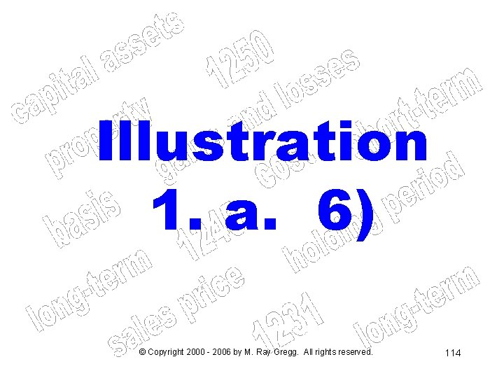 Illustration 1. a. 6) © Copyright 2000 - 2006 by M. Ray Gregg. All