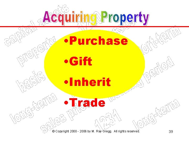 • Purchase • Gift • Inherit • Trade © Copyright 2000 - 2006