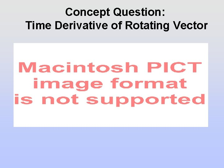 Concept Question: Time Derivative of Rotating Vector