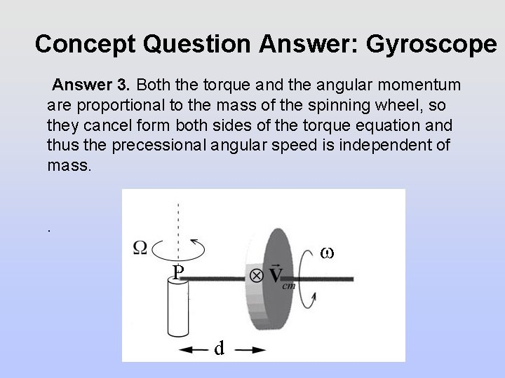 Concept Question Answer: Gyroscope Answer 3. Both the torque and the angular momentum are