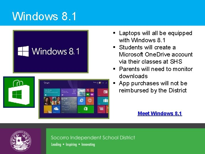 Windows 8. 1 § Laptops will all be equipped with Windows 8. 1 §