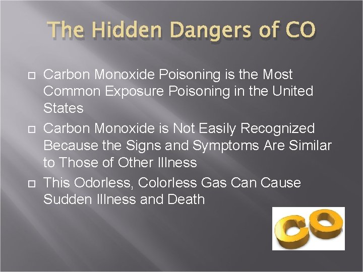 The Hidden Dangers of CO Carbon Monoxide Poisoning is the Most Common Exposure Poisoning