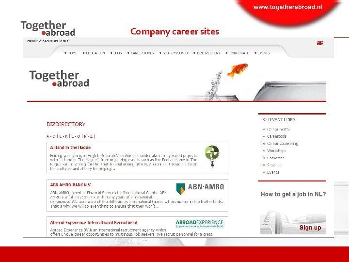 Company career sites