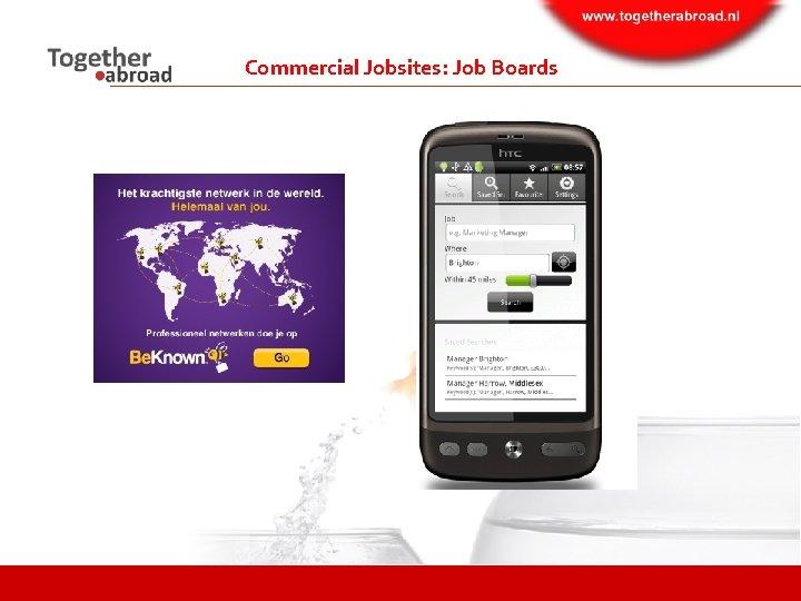 Commercial Jobsites: Job Boards