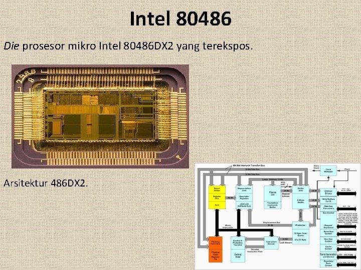 Intel 80486 Die prosesor mikro Intel 80486 DX 2 yang terekspos. Arsitektur 486 DX