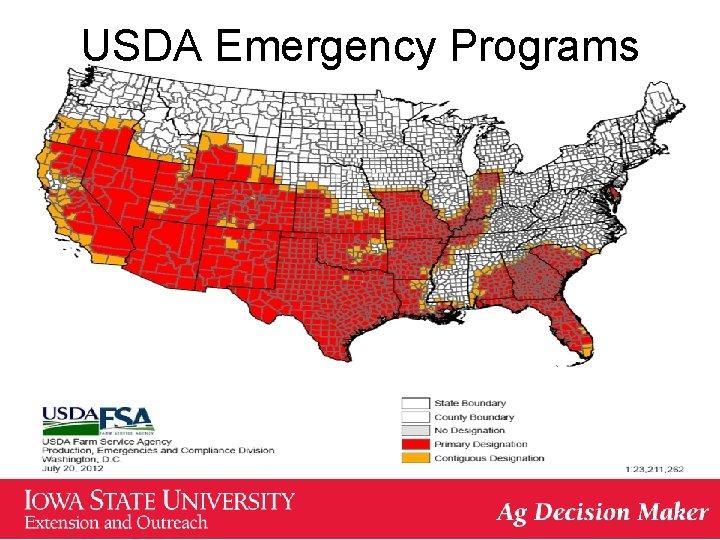 USDA Emergency Programs