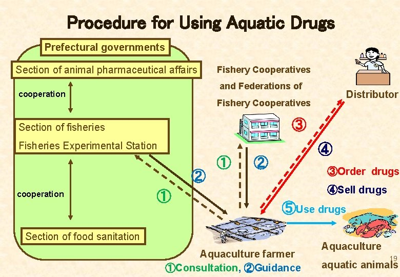 Procedure for Using Aquatic Drugs Prefectural governments Section of animal pharmaceutical affairs Fishery Cooperatives