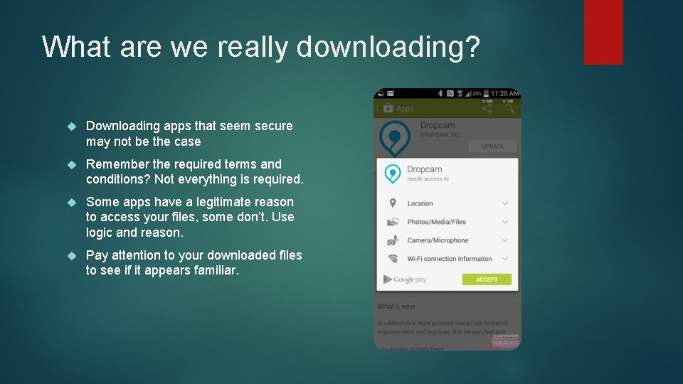 What are we really downloading? Downloading apps that seem secure may not be the