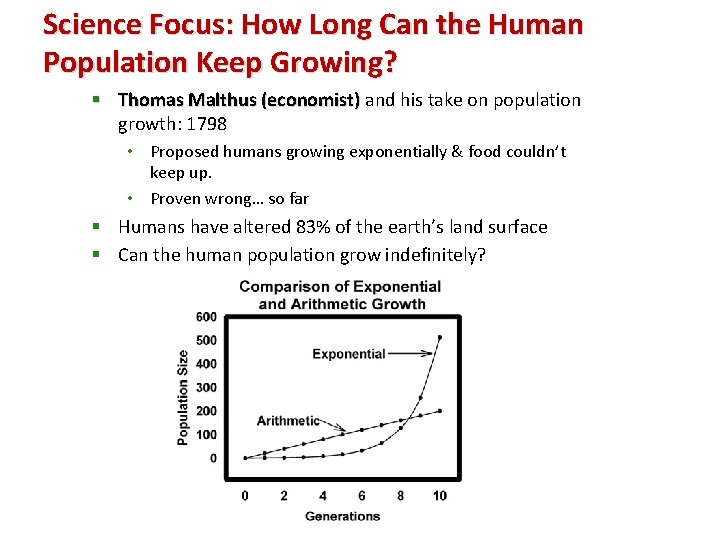 Science Focus: How Long Can the Human Population Keep Growing? § Thomas Malthus (economist)
