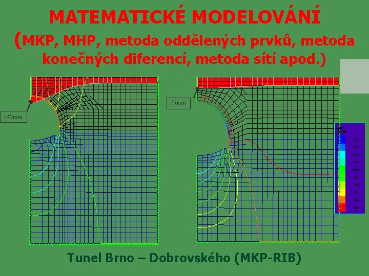 MATEMATICKÉ MODELOVÁNÍ (MKP, MHP, metoda oddělených prvků, metoda konečných diferencí, metoda sítí apod. )