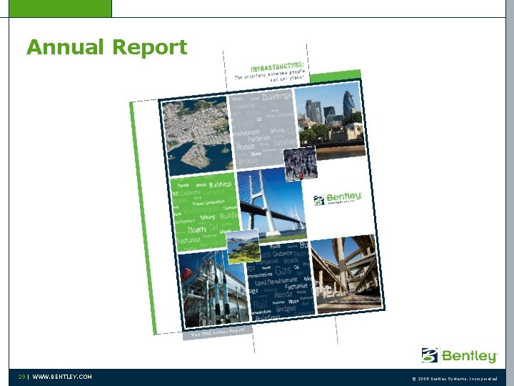 Annual Report 29   WWW. BENTLEY. COM © 2008 Bentley Systems, Incorporated