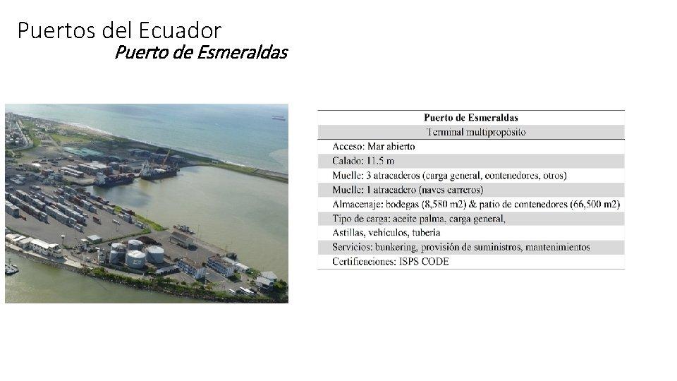 Puertos del Ecuador Puerto de Esmeraldas